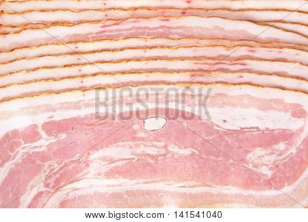 Background Made Of Sliced Bacon Texture Full Length