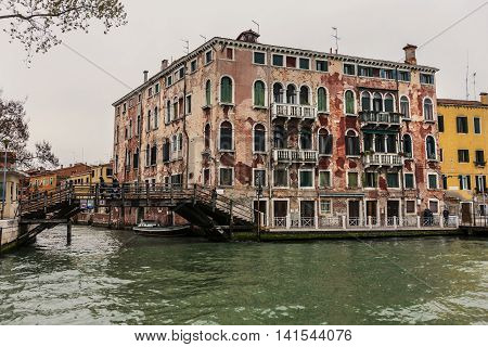 Venetian Gothic Style Building In Venice, Italy
