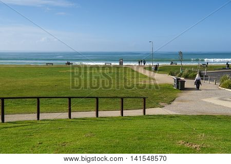 green park at Lorne beach beautiful seascape in summer near the Great Ocean Road Victoria Australia