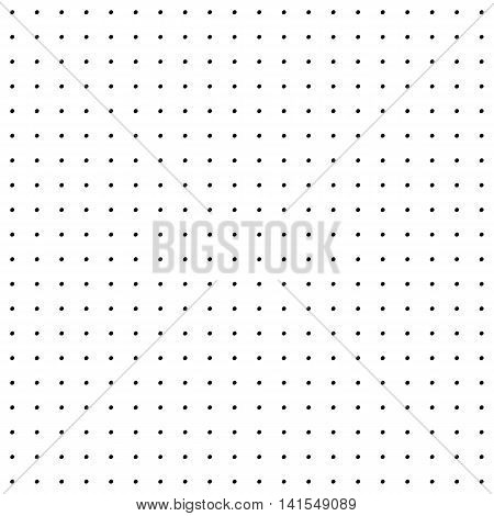 Cute black and white seamless pattern with trendy ink polka dots. Abstract vector background.