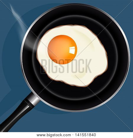 sunny side up eggs from one egg fried in a pan