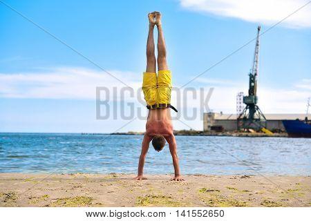 Man Standing On Hands