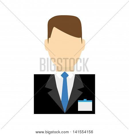 receptionist male suit hotel service icon. Isolated and flat illustration. Vector graphic