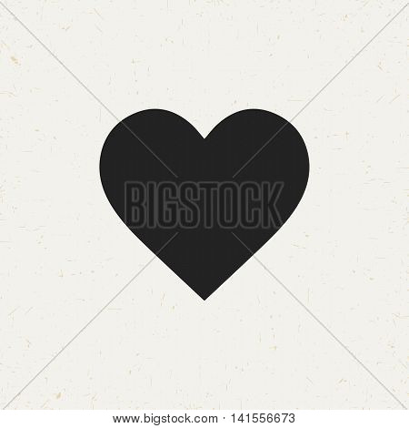 Isolated flat vector heart icon for web sites and apps.