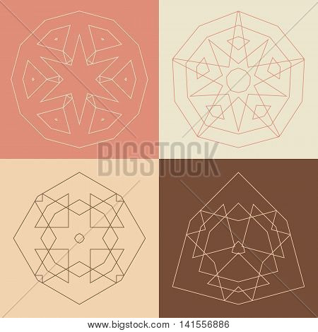 Collection Of Vector Logo Design Templates And Patterns. Abstract Round Icons. Set Of Creative Circu