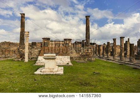 Temple Of Jupiter In Ancient Pompeii City