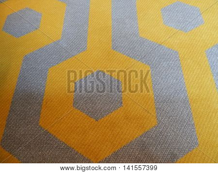 modern moquette - geometric pattern in yellow and gray colors