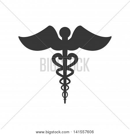 caduceus medical health care icon. Isolated and flat illustration. Vector graphic