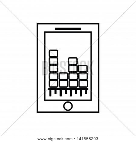 smartphone equalizer music sound dj melody icon. Isolated and flat illustration. Vector graphic