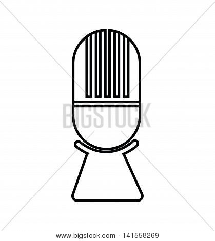 microphone music sound dj melody icon. Isolated and flat illustration. Vector graphic