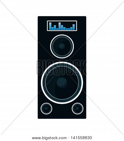 speaker music sound dj melody icon. Isolated and flat illustration. Vector graphic