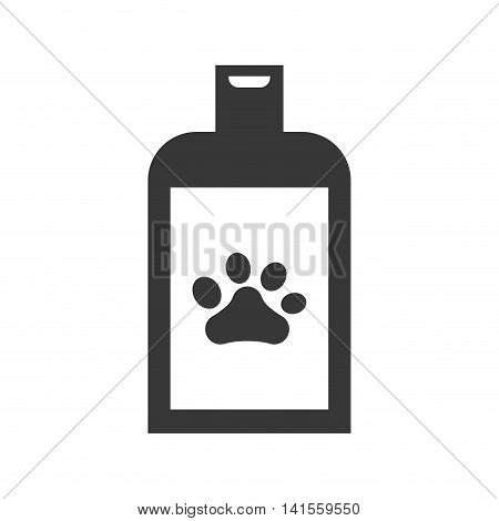 foot print shampoo dog love pet animal icon. Isolated and flat illustration. Vector graphic