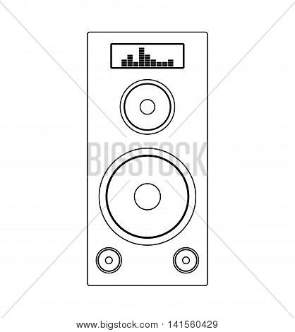 speaker music sound melody icon. Isolated and flat illustration. Vector graphic