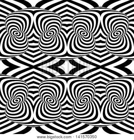 Design Seamless Monochrome Illusion Background