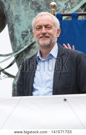 LIVERPOOL, United Kingdom: Aug 1st 2016 - Labour leader Jeremy Corbyn at a rally in Liverpool