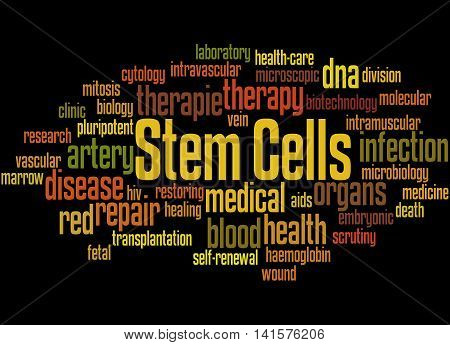 Stem Cells, Word Cloud Concept 7