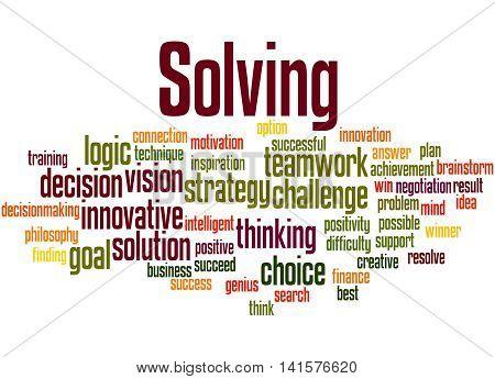 Solving, Word Cloud Concept 2