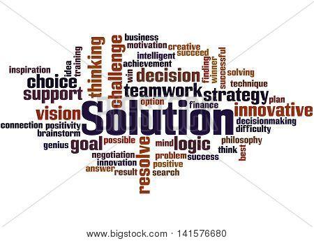 Solution, Word Cloud Concept 7