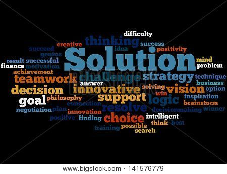 Solution, Word Cloud Concept 3