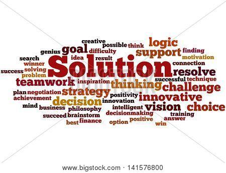 Solution, Word Cloud Concept 2