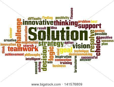 Solution, Word Cloud Concept