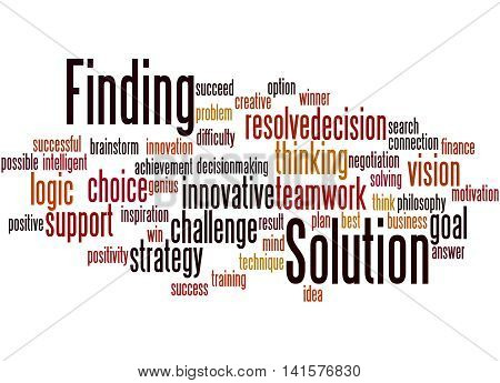 Solution Finding, Word Cloud Concept 9