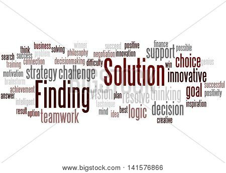 Solution Finding, Word Cloud Concept 6