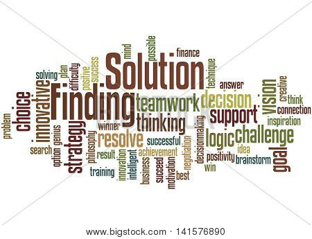 Solution Finding, Word Cloud Concept 5