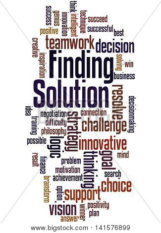 Solution Finding, Word Cloud Concept 4