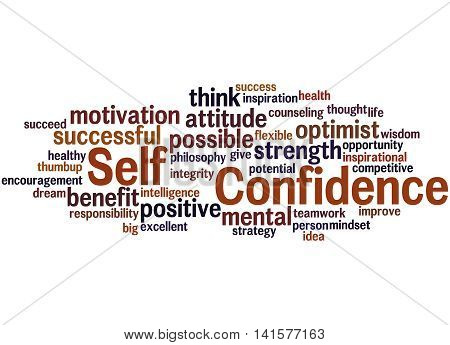 Self Confidence, Word Cloud Concept