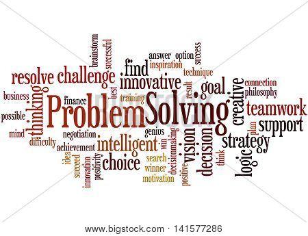Problem Solving, Word Cloud Concept 9