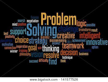 Problem Solving, Word Cloud Concept