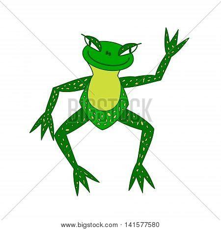 original frog vector color vector illustration hand-drawn
