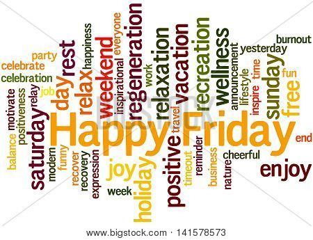 Happy Friday, Word Cloud Concept 3