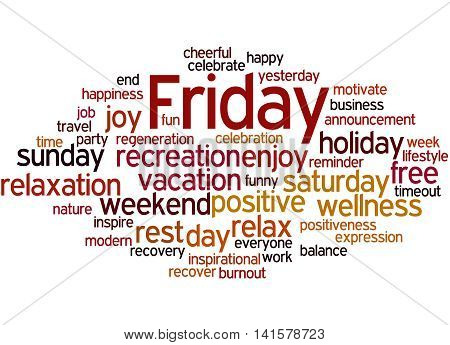 Friday, Word Cloud Concept 5