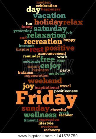Friday, Word Cloud Concept 3