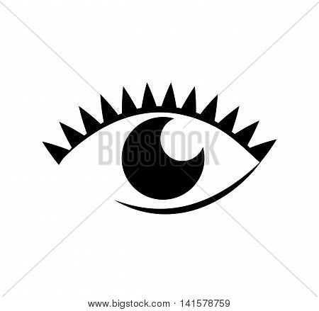 eye female look vision optical  icon. Isolated and flat illustration. Vector graphic