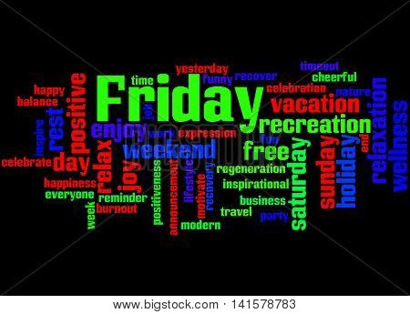 Friday, Word Cloud Concept 2