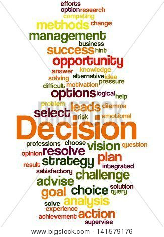 Decision, Word Cloud Concept 5