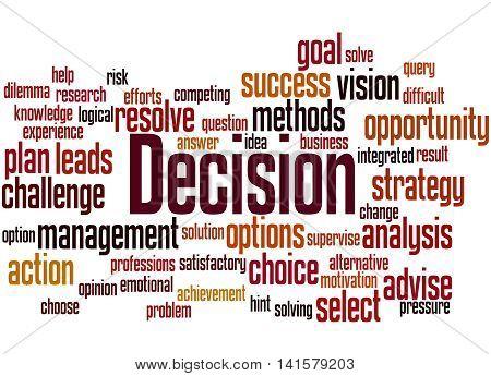 Decision, Word Cloud Concept 4