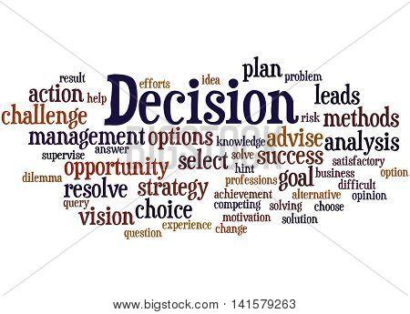 Decision, Word Cloud Concept