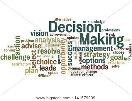 Decision Making, Word Cloud Concept 7
