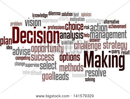 Decision Making, Word Cloud Concept 5