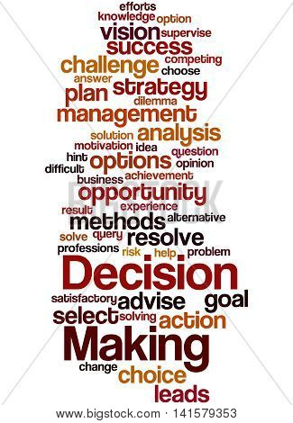 Decision Making, Word Cloud Concept 4