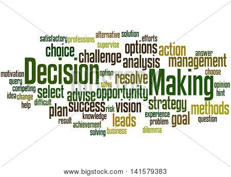 Decision Making, Word Cloud Concept 2