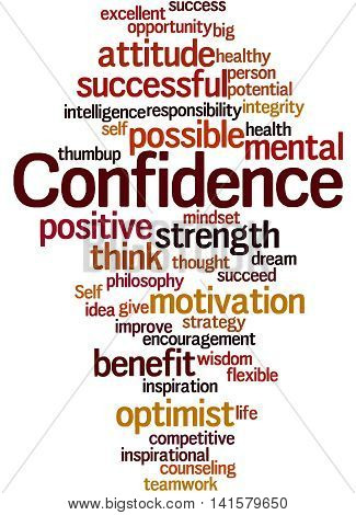 Confidence, Word Cloud Concept 7