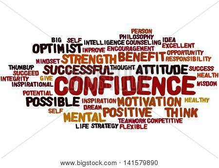 Confidence, Word Cloud Concept