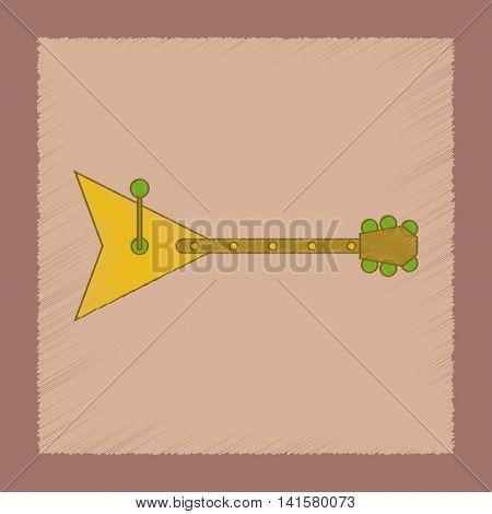 flat shading style icon Kids toy balalaika