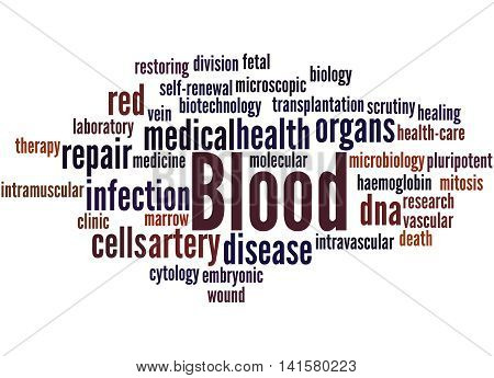 Blood, Word Cloud Concept