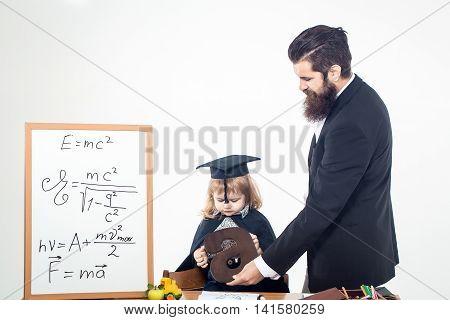 Small Boy Child And Teacher